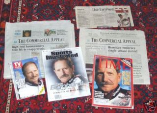 Dale Earnhardt Newspapers Time Sports Illustrated