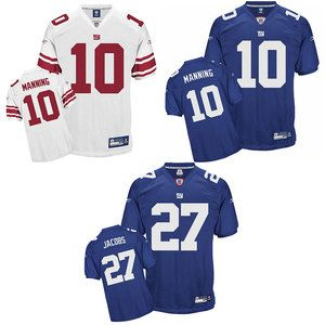 New York Giants Authentic NFL Reebok Jersey Manning Jacob Tuck Blue