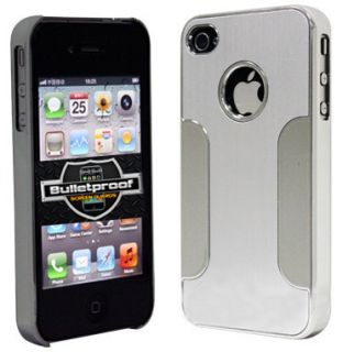 Silver Deluxe Chrome Aluminum Hard Case Cover F iPhone 4 4S