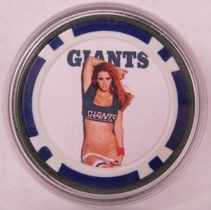Sexy Jaime Edmondson New York Giants Poker Chip Card Guard Protector