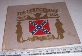 Old Confederacy 1861 1865 American Civil War Book w/ Record of Battle