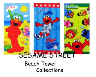 Sesame Street Elmo Beach Bath Towel Collections 30x60
