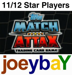 Choose 11 12 Star Player Match Attax 2011 2012 Card Players from All