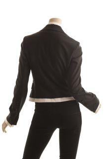 BCBG Max Azria Black White Wool Tuxedo Jacket Size S