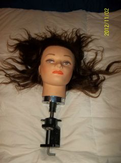 19 Cosmetology HUMAN Hair Mannequin Head Miss Kim