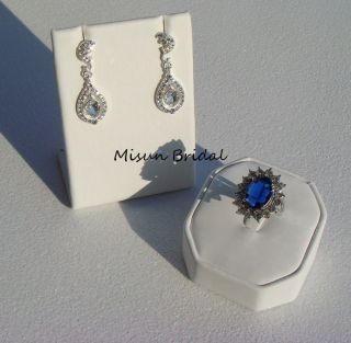 Swarovski Pearl and Crystal set   bridal earring necklace jewelry gift
