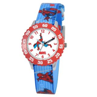 Marvel Marvel Kids Spider Man Stainless Steel Time Teacher Watch with