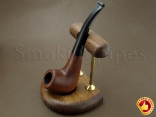 Solid Wood Pipe Stand Rack Display Holder 1 Slot New
