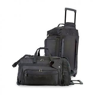 Wheeled Luggage U.S. Traveler   28 Polyester Rolling Duffel in Black