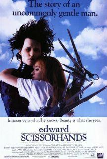 Edward Scissorhands 27 x 40 Movie Poster Johnny Depp B