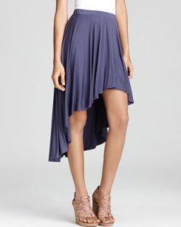 Ella Moss New Blue Jersey High Low Pull on Asymmetrical Skirt M BHFO