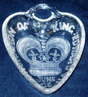 Antique Edward VII Coronation Trinket Candy Dish 1902