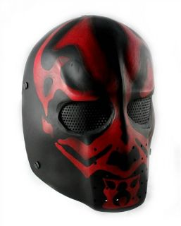 Army of Two Airsoft FMA Elliot DMF Mask with Wire Mesh Red and Black