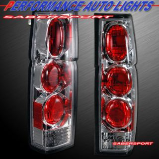Hardbody Pickup o altezza Style Tail Lights Pair Chrome