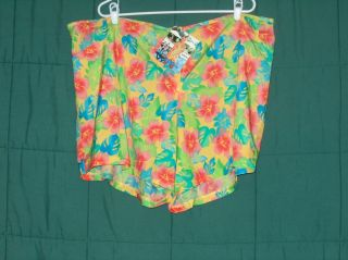 Catalina Womens Plus Zip Front Shorts Swimsuit Cover Up Size 2X