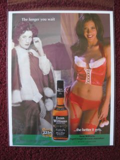 2008 Print Ad Evan Williams Whiskey ~ The Longer You Wait Sexy Girl