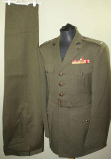 Marine Corps Officer Alpha Uniform Ribbons Badges Egas Named