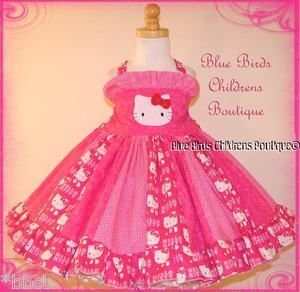HELLO KITTY PINK Dress BBCB Boutique Pageant Birthday Party Princess