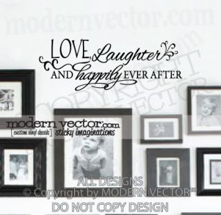 Love Laughter Quote Vinyl Wall Decal Inspirational