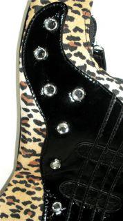 Elvis Presley Large Leopard Guitar Shaped Handbag Shoulder Bag Cross