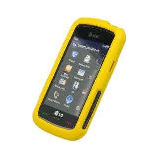 for LG Encore Rubber Hard Case Cover, Yellow