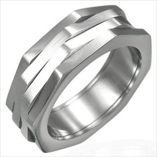 Sepia Accessories Multi Band Diamond Cut Spinner Ring