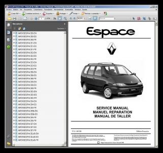 Renault Espace III Manual de Taller Workshop Manual Manuel Reparation