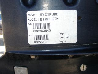 1993 Evinrude 9 9 HP Electric Start 2 Stroke Outboard Motor 20 Shaft