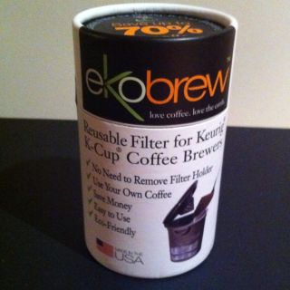 Ekobrew Reusable Filter for Keurig K Cup Single Cup Coffee Maker Gen 2