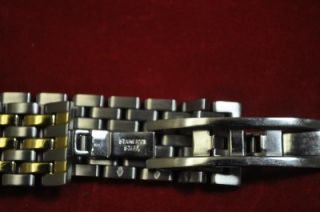 Esq Swiss Diamond Watch Black Dial Two Tone Stainless Steel Band
