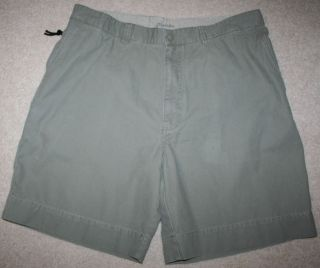 JOHNS BAY Mens Green Khaki Golf Chinos Shorts Size 38 x 8 Flat Front