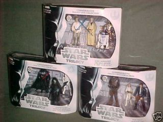 Exclusive DVD Full Set Lot Star Wars Action Figure 3pk