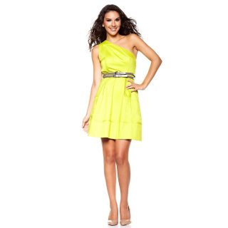 Jessica Simpson Womens One Shoulder Dress with Belt
