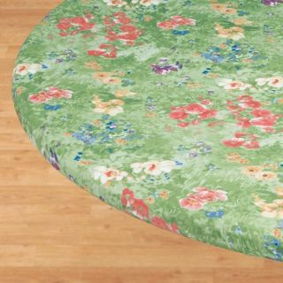 Floral Watercolor Elasticized Fitted Table Cover SM LG Round Oval