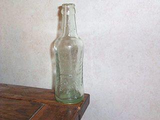 Bludwine Soda Bottle w Wheat Pattern 6 1 2 oz Elberton GA L K