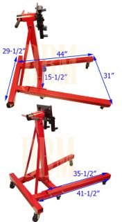 Portable Heavy Duty Mobile Engine Stand Dolly Foldable Folding Cart