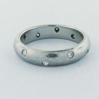Estate Tiffany Co Etoile Platinum Diamond Wedding Ring