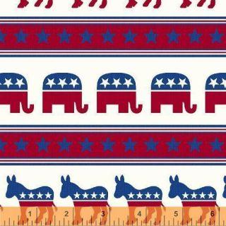 Glory America Red White Blue Republican Democrat Star Election