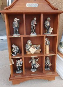 Emmett Kelly Jr clown collection and display case