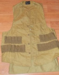 DESCRIPTION HETTRICK VTG FIELD HUNTING FISHING GAME POUCH CANVAS