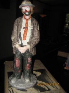 Emmett Kelly Jr EKJ Flambro Sad Clown Hobo Figurine Vintage