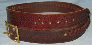 Eubanks Pioneer Leather Gun Holster Cartridge Belt Med 22 Caliber