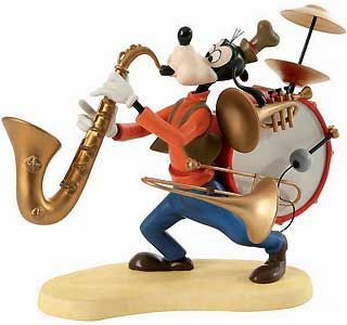 WDCC Mickey Mouse Club   Goofy   One Man Band NIB Disney w/ Cert