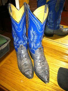 Custom Mens Exotic Sea Reptile Cowboy Western Boots MenS