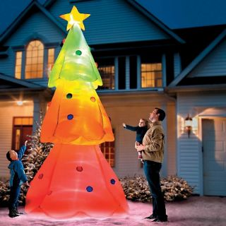 Improvements Giant Inflatable Color Changing Christmas Tree