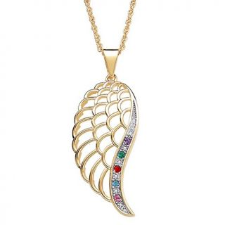 birthstone angel wing pendant with diamond accent rating 1 $ 67 00 s
