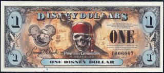 2011 $1 Disney Dollar Crisp Mint F006007 EFO Ladder