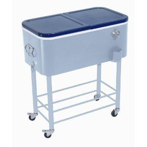 Rio Brands Entertainer Jr. Rolling Party Cooler Ice Chest No Bending