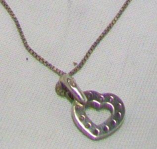 Beautiful 925 Silver Heart Pendant on 925 Silver Chain