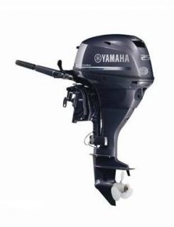 2010 Yamaha 25 HP Electric Start 4 Stroke Outboard Motor Tiller 20